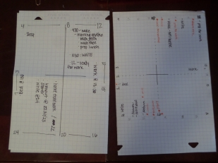 I settled on quadrants, but here I was figuring out how I wanted to write down everything.