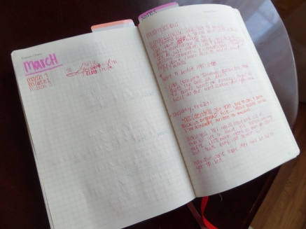 A peek into the journaling of my written sessions.