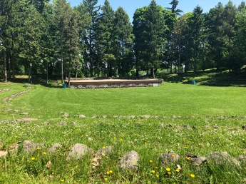 Thorden Park amphitheater area. I decided to work here for a bit on the last day.